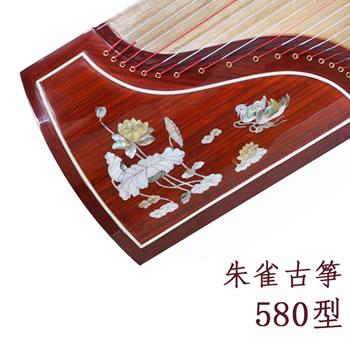 朱雀古筝580贝雕十级考级演奏教学实木手工泡桐木专业古筝高级演奏筝