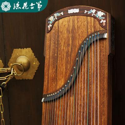 琼花古筝-桐木清花专业考级实木挖嵌演奏古筝琴